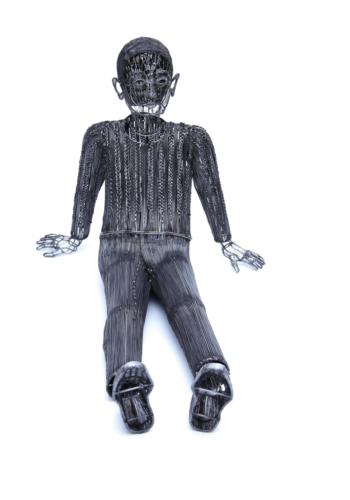 Roberto Fanari, MEMORES, filo di ferro cotto, cm...2017 collezione privata